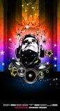 Disco Backgorund voor de vliegers van de Gebeurtenis van de Muziek Royalty-vrije Stock Afbeelding
