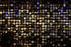Disco Background 2. Disco background with metal shiny color round Royalty Free Stock Photo