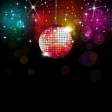 Disco Background. Multicolor disco party music background with lights and blurs Stock Photos