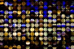 Disco Background. With metal shiny color round Stock Photography