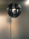 Disco Background. Metal Background with Disco Ball royalty free stock photography