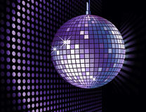 Disco background. Vector background with disco ball Royalty Free Stock Photo