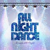 Disco background all night dance Stock Photo
