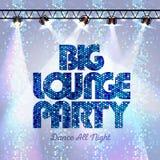 Disco background big lounge party Stock Image