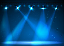Disco background. Disco blue neon background with lights Royalty Free Stock Photography