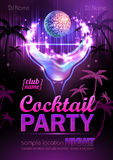 Disco background. Cocktail party poster Stock Image
