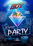 Disco background. Cocktail party poster. Disco background. Winter Cocktail party poster Stock Photography