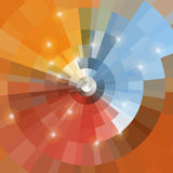Disco background colored. For your design, orange, blue, red, brown with light elements Stock Photography