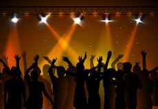 disco background. Dancing people Royalty Free Stock Image