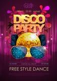 Disco background. Disco party poster Stock Photo