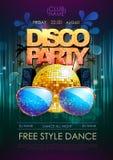 Disco background. Disco party poster Royalty Free Stock Photos