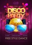 Disco background. Disco party poster Royalty Free Stock Photo