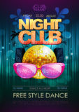 Disco background. Disco party poster Royalty Free Stock Image