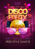 Disco background. Disco party poster Stock Image
