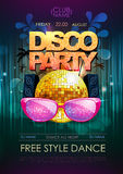 Disco background. Disco party poster Stock Images