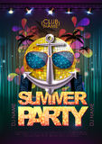 Disco background. Disco party poster Royalty Free Stock Photo