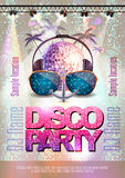 Disco background. Disco party poster Royalty Free Stock Images