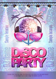 Disco background. Disco party poster Stock Photos