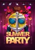 Disco background. Disco party poster Stock Photos