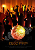 Disco background. Disco poster Stock Images