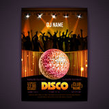 Disco background. Disco poster Royalty Free Stock Photography