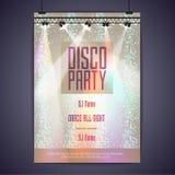 Disco background. Disco poster Stock Image