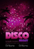 Disco background. Disco poster Royalty Free Stock Images