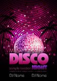 Disco background. Disco poster Royalty Free Stock Photo