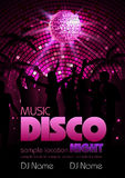 Disco background. Disco poster Stock Photo