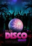 Disco background. Disco poster Royalty Free Stock Photos