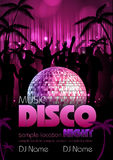 Disco background. Disco poster Stock Photos