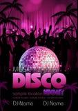 Disco background. Disco poster Stock Photos