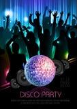 Disco background. Disco poster Royalty Free Stock Photo