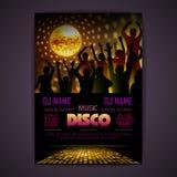 Disco background. Disco poster Royalty Free Stock Image