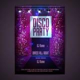 Disco background. Disco poster Stock Photo