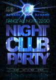 Disco background. Disco poster. Night club party Stock Images