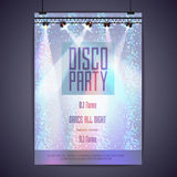Disco background. Disco poster Stock Photography