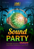Disco background. Disco poster sound party Stock Image