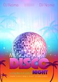 Disco background. Disco poster Royalty Free Stock Image