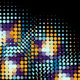 Disco background with halftone dots in retro style Stock Image