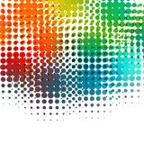 Disco background with halftone dots in retro style Royalty Free Stock Photography