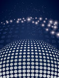 Disco background with halftone Stock Photography