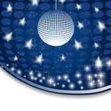 Disco background with halftone Stock Images