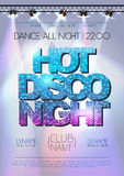 Disco background. Hot disco night Stock Images