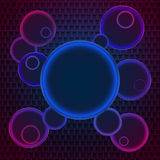 Disco background. Perfect bright neon disco background. Vector illustration Royalty Free Stock Photos