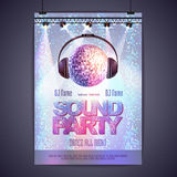 Disco background. poster sound party Royalty Free Stock Photo