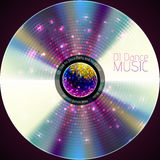 Disco  background. Record or disk Stock Images