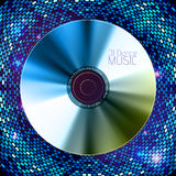 Disco  background. Record or disk Stock Photo