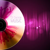 Disco background. Record or disk Royalty Free Stock Photos