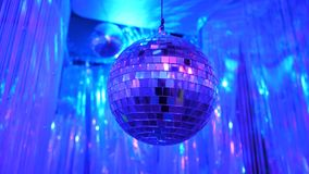 Disco Background with Shiny Retro Disco Ball. Great Background for Disco Party or Small Karaoke Event. Blue Theme. Blue. Disco ball royalty free stock photos